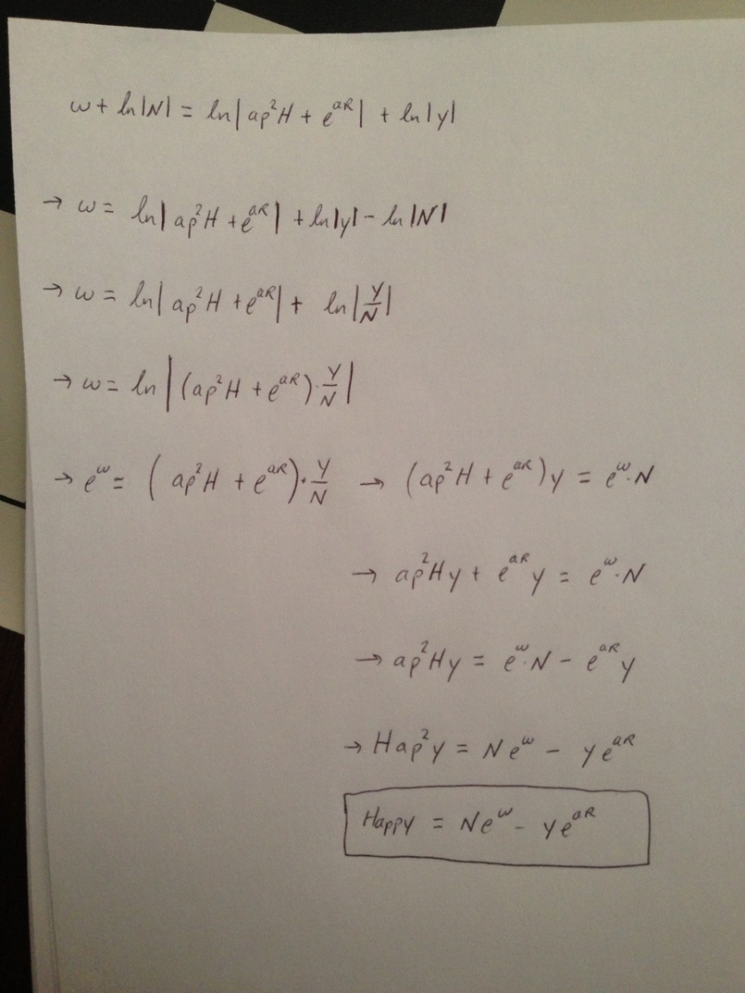 mathematical equation for a happy new year