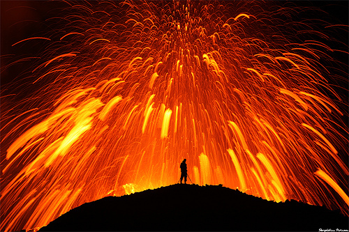 explosive volcanic eruption