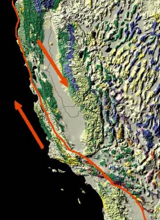 San andreas transform fault