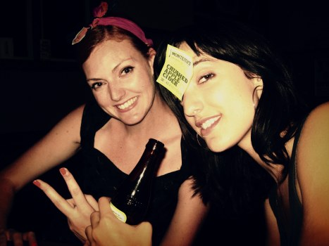 Thea Beckman and Miss Carr