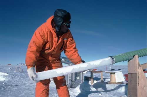 Ice core drilling Greenland