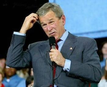 George bush jr thinking