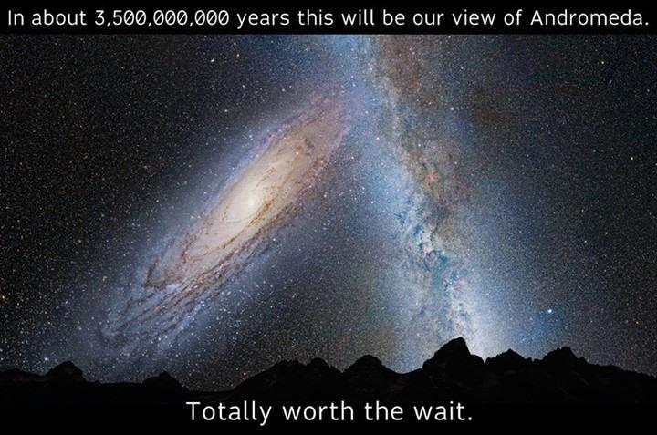 Beautiful view of the night sky