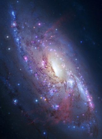 Spiral galaxy in deep space. Elements of image furnished by NASA