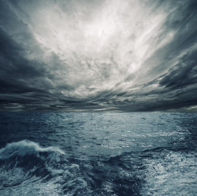 Huge ocean waves tsunamis