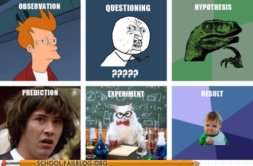 memes science scientific method funny because why